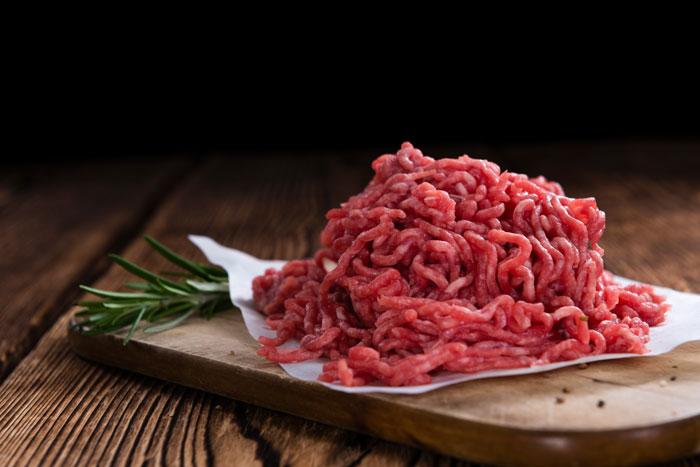 ground beef pork bison meat